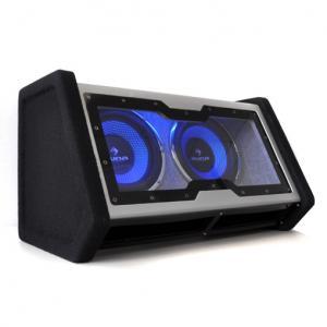 Auna Double Subwoofer Voiture 2x25cm Effet lumineux LED 2000W