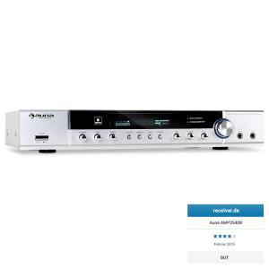 auna Ampli HiFi home cinema récepteur radio son surround 5 canaux -blanc