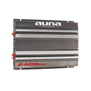 Auna AB-450 Ampli Auto 4 Canaux 2400W Design Racing 360W RMS 2400W max.
