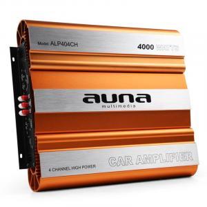 Auna Ampli Sono Auto 2/3/4 Canaux Mosfet 4000W Max.