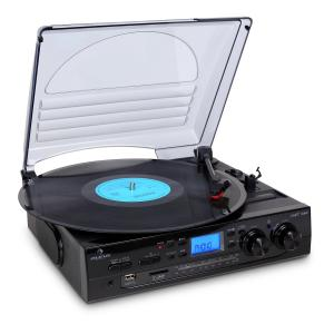 Auna TT-186E Chaîne Stéréo Platine Vinyle Enregistrement USB