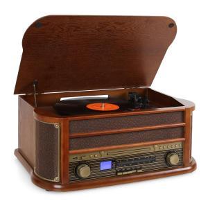 RM1-Belle Epoque 1908 Retro Chaîne stereo lecteur CD MP3 USB - bois