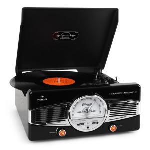 Auna MG-TT-82B Platine vinyle FM look rétro - noir