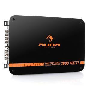 auna Dark Star 2000 Ampli auto bridgeable 2 canaux 200W RMS