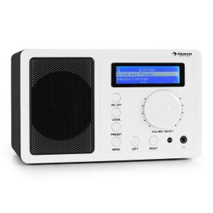 auna IR-130 Radio internet WiFi streaming musique sans fil - blanche