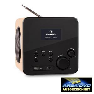 auna Radio Gaga Radio internet WiFi/éthernet tuner DAB/DAB+ FM port USB MP3 WMA