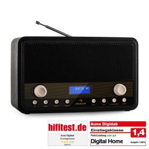 Auna Digidab Radio retro numérique DAB FM/AM PLL réveil -bois noir