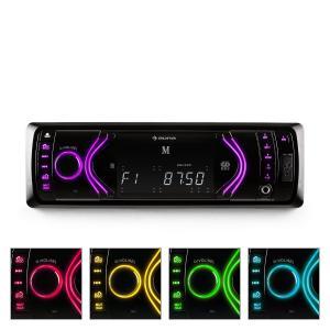 auna MD-130 Autoradio numérique Bluetooth SD et USB pour MP3 -blanc