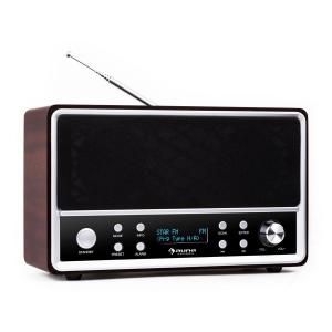 Auna Charleston Radio numérique portableDAB+ FM RDS réveil