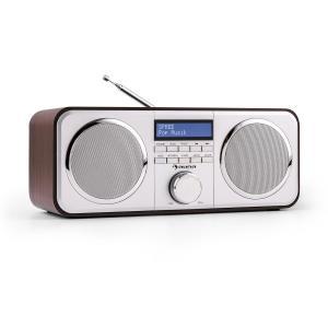 auna Georgia Radio numérique tuner DAB DAB+ FM entrée AUX- marron foncé