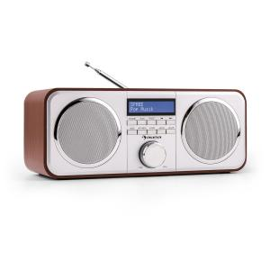 auna Georgia - Radio numérique avec tuner DAB, DAB+ & FM AUX - cerisier