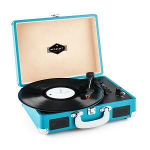 Auna Peggy Sue platine viynle rétro LP USB -bleu