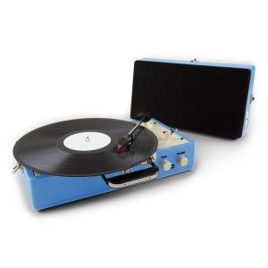 Auna Nostalgy Buckingham platine vinyle rétro AUX -bleu