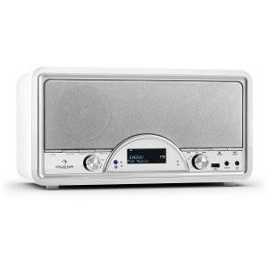 auna Virginia WH DAB/DAB+ Radio numérique Bluetooth USB FM AUX MP3 -Blanc