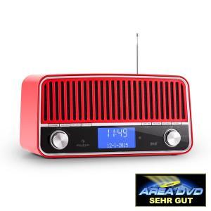 Auna Nizza Radio rétro DAB+ Bluetooth FM AUX 2.1 Subwoofer -rouge