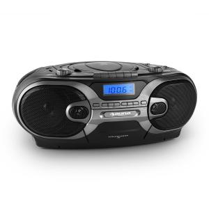 auna RCD 230 radio CD stéréo portable USB SD MP3 K7 AM/FM -noir