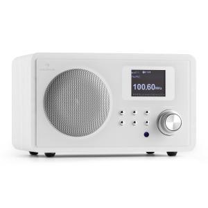 auna IR-150 Radio internet FM DLNA WLAN télécommande châssis bois -blanc