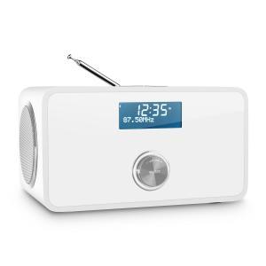 auna DABStep DAB/DAB+ Radio numérique Bluetooth FM RDS réveil -blanc