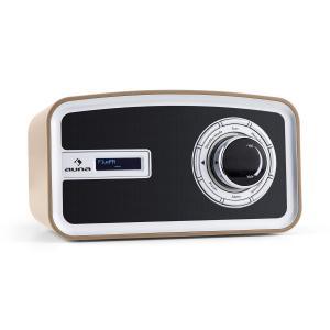auna Sheffield radio digitale rétro DAB+ FM fonctionnement sur piles - café