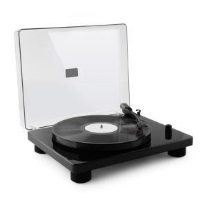 auna TT Classic BKPlatine tourne-disque rétro USB Line-Out haut-parleur - noir