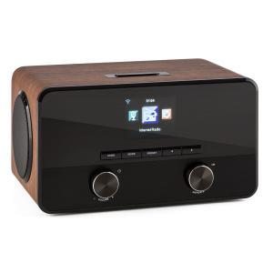 auna Connect 100 Radio internet Lecteur réseau Bluetooth WiFi USB MP3 AUX marron