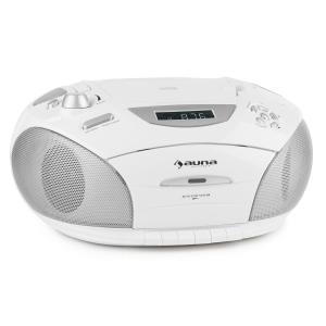 auna RCD220 Boombox CD USB lecteur K7 radio FM PLL MP3 2x2W - blanc