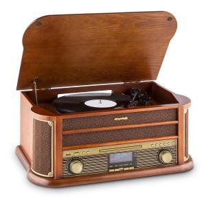 auna Belle Epoque 1908 Chaîne stéréo rétro platine disque DAB DAB+ Bluetooth