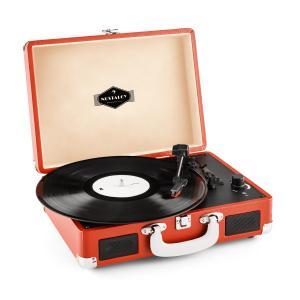 auna Peggy Sue Platine vinyle toune disque rétro LP USB - orange foncé