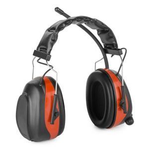 auna Jackhammer 2.0 Casque radio antibruit SNR 28 dB Aux-In ABS/acier – rouge