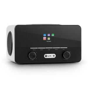 auna Connect 150 WH 2.1-Radio Internet Spotify Connect Mediaplayer Wifi USB DAB+ FM RDS AUX - blanc
