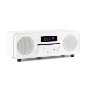 auna Melodia Radio lecteur CD tuner DAB+/FM Bluetooth AUX alarme snooze -blanc