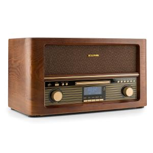 auna Belle Epoque 1906 DAB Chaîne hifi rétro Bluetooth CD USB MP3 FM