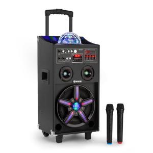 auna DisGo Box 100 Enceinte sono DJ mobile & lumière disco Bluetooth USB 100W RM