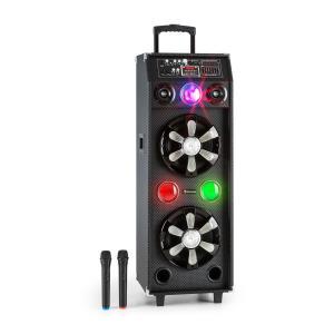 auna DisGo Box 2100 Enceinte Bluetooth sono DJ mobile lumière disco + 2 micros s