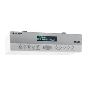 auna KR-100 DAB Radio de cuisine encastrable DAB+ Bluetooth micro kit mains libres - blanc