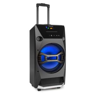 auna Brooklyn Beat enceinte mobile 100W RMS Bluetooth USB SD lecteur CD FM LED