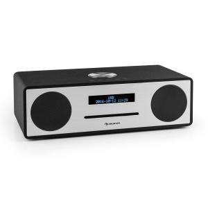 auna Stanford Radio Lecteur CD DAB DAB+ Bluetooth USB MP3 AUX FM noir