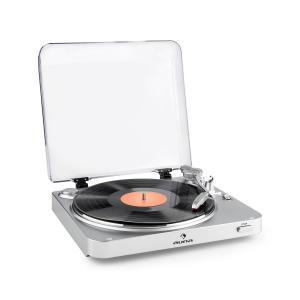 auna TT-30 BT Platine vinyle Tourne-disque Bluetooth Line-Out RCA USB – argent