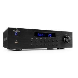 auna AV2-CD850BT ampli stéréo 4 zones 5x80 W RMS Bluetooth USB CD FM - noir