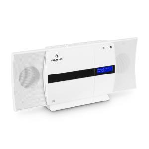 auna V-20 DAB Chaîne stéréo verticale Bluetooth NFC CD USB MP3 DAB+ - blanc