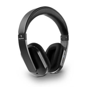 auna Elegance Casque Bluetooth NFC aptX batterie mains libres - simili cuir noir