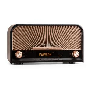 Glastonbury Chaîne HiFi stéréo rétro DAB+ FM Bluetooth CD MP3