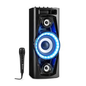 PPS 35 Système audio enceinte Bluetooth 2x USB MP3 AUX FM LED + micro