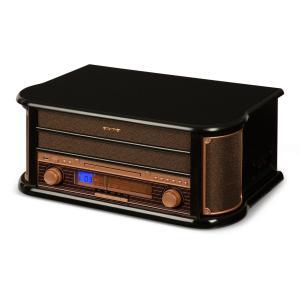Belle Epoque 1908 Chaîne stéréo rétro platine vinyle USB CD MP3 radio K7
