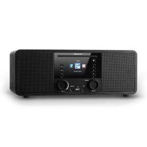 IR-190 Radio internet Bluetooth Lecteur CD WiFi UPnP USB MP3 AUX - noir