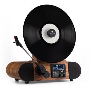 Verticalo DAB Platine vinyle rétro tuner DAB+ FM USB Bluetooth AUX