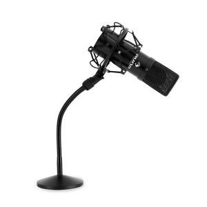 Set micro studio avec micro USB noir et pied de table