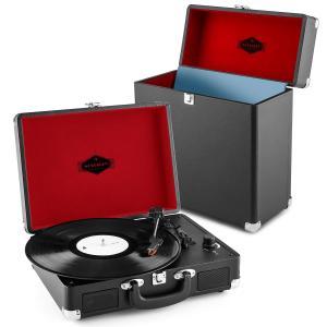 auna Peggy Sue Record Collector Set Tourne-disque rétro + Valise à vinyles - noi