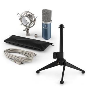 auna MIC-900BL USB kit micro V1 | micro à condensateur bleu | trépied de table