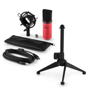 auna MIC-900RD USB kit micro V1 | micro à condensateur rouge | trépied de table